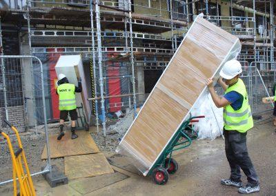Inbärning av byggmaterial