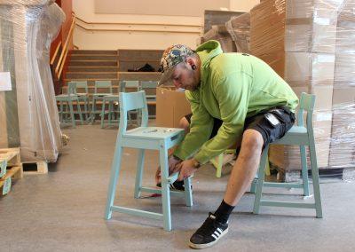 Montering av stol